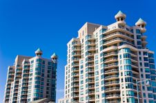 Two Condominiums With Balconies Stock Photography