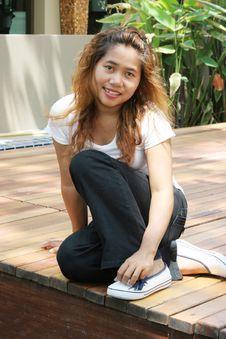 Free Happy Thai Woman Royalty Free Stock Photos - 4980398