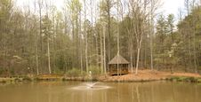 Free Gazebo And Fountain In Woods Royalty Free Stock Photography - 4980647