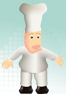 Cartoon Chef Royalty Free Stock Photo