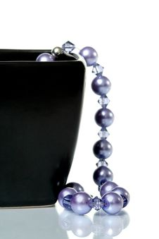 Free Purple Beaded Necklace Royalty Free Stock Photo - 4981105