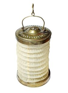 Free Vintage Brass And Linen Lantern Royalty Free Stock Photo - 4981285