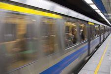 Free Subway Train Stock Photography - 4983002