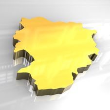 3d Golden Map Of Andorra Stock Photos