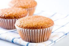 Free Three Tasty Muffins, Isolated Stock Photo - 4984660