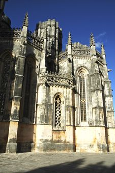 Portugal, Batalha: Famous Batalha Monastery Stock Images