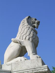 Free Stone Lion Royalty Free Stock Photography - 4986067