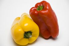 Free Two Color Different Peppers Stock Images - 4986134