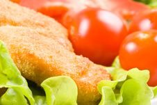 Free Chicken Nuggets With Vegetables Stock Image - 4986631