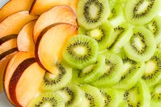 Free Background From Plum And Kiwi. Royalty Free Stock Image - 4986686