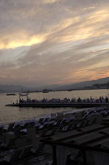 Sunset In Cannes Royalty Free Stock Images
