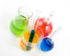 Free Various Colorful Flasks Stock Image - 4987551