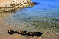 Free Blue Marine Water Nuances, Sand & Rocks Stock Photography - 4987922