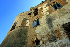 Ancient Castle Wall, Island Of Sicily Royalty Free Stock Photo