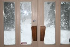 Free Winter Scene From Inside Royalty Free Stock Photos - 4988458