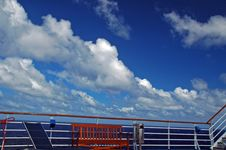 Free Cruise Ship Railing, Stairs And Bench Royalty Free Stock Photo - 4988565