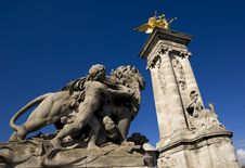 Statues, Pont Alexandre III, Paris, France Royalty Free Stock Photos