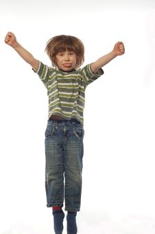 Free Jumping Boy Stock Photography - 4989782