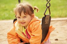 Free Smiling Little Girl At The Park Stock Images - 4989794