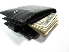 Black Leather Purse 4 Stock Photography
