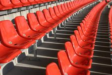 Free Red Seats In A Stadium Royalty Free Stock Photo - 4989965