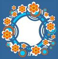 Free Blue Floral Frame Royalty Free Stock Photo - 4995295