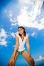 Free Woman Looking Down On A Sunny Day Royalty Free Stock Photo - 4995385