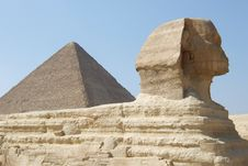 Free Great Sphinx And Pyramid Stock Images - 4990114