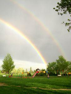 Free Double Rainbow In The Sky Stock Photos - 4990283