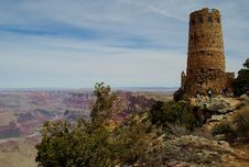 Free Grand Canyon WatchTower Stock Photography - 4991262