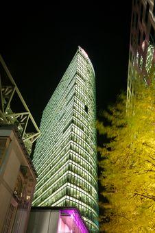 Potsdamer Platz At Night Royalty Free Stock Photography
