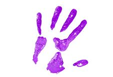 Free Purple Hand Print Stock Images - 4991694