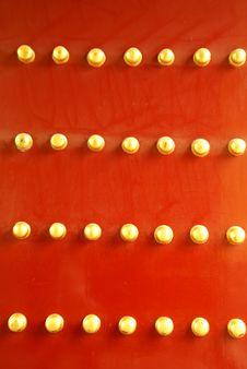 Free Chinese Rayal Door Stock Image - 4991771