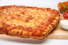 Free Cheese Bread Pizza Stock Photography - 4991982