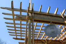 Free Complex Traditional Pergola With Gong And Bamboo Stock Photography - 4992302