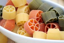 Free Pasta Tricolore Royalty Free Stock Images - 4992819