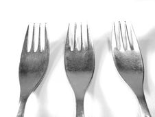 Free Row Of Metal Silver Forks Stock Image - 4992861