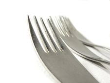 Free Row Of Metal Silver Forks Royalty Free Stock Photography - 4992867