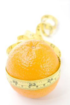 Free Orange With Yellow Meter Stock Image - 4993061