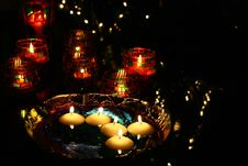 Free Candles In The Water Royalty Free Stock Photography - 4993487