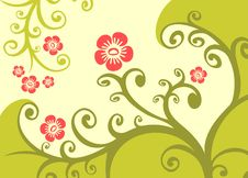 Free Green Floral Background Royalty Free Stock Photos - 4995238
