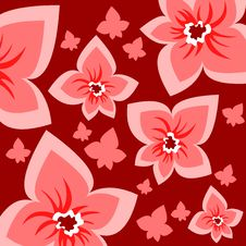 Free Red Flowers Background Royalty Free Stock Images - 4995269