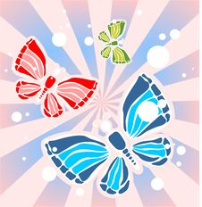 Free Butterflies And Beams Stock Photography - 4995302