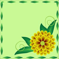 Free Flower And Frame Royalty Free Stock Photography - 4995777