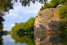 Free Rock Reflected In The River Stock Photos - 4996393