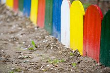 Free Colorful Wooden Fence Royalty Free Stock Photo - 4996935