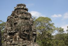 Free Angkor Temple - Bayon With Jungle Stock Images - 4997014