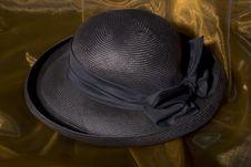 Free Dark Blue Ladies Hat Stock Photography - 4997022