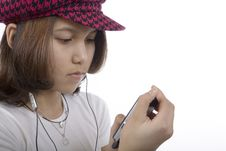 Free Teenager With MP3 Stock Photos - 4997153