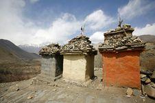 Free Tibetan Memorial Tombs, Annapurna Stock Photos - 4997253